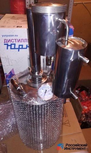 Дистиллятор разборный с термометром, сухопарником и краником (12 л)