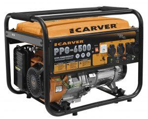 Бензиновый генератор Carver PPG-6500 (5.5 КВт)