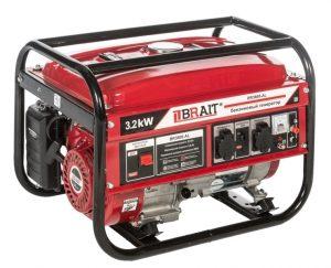Бензиновый генератор Brait BR-3800CU (3.2 кВт, медная обмотка)