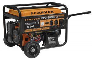 Бензиновый генератор Carver PPG-8000E-3 (220/380,11.1 КВт, электростартер)
