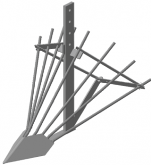 Картофелекопалка МБ без сцепки (стойка 500мм)