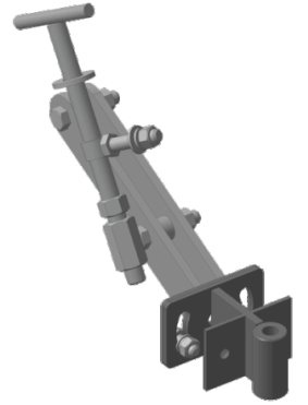 Сцепка МБ в сборе, кронштейн КР16, (втулка 16′)