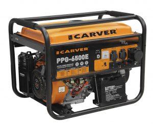 Бензиновый генератор Carver PPG-6500E (5.5 КВт, электростартер)