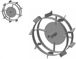 Грунтозацеп МК Крот, Крот 2,Тарпан, 500 АМ, Carver T-653R, Kansas MK-700 (2 обода)